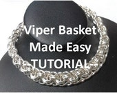 Chain Maille Viper Basket Bracelet Photo Tutorial PDF