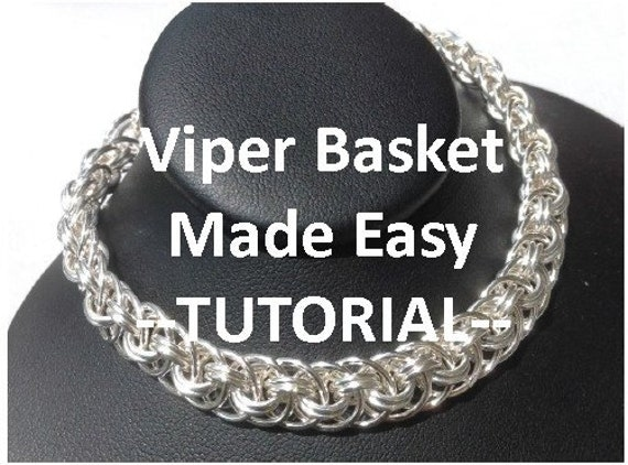 Basket Weave Chainmaille Tutorial : Chain maille viper basket bracelet photo tutorial pdf