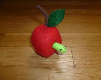 Apple With Worm Organic Catnip Cat Toy
