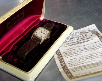 WRIST WATCH Westfield 1920 30s VINTAGE Original box and Paperwork