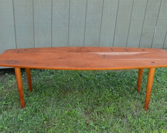 solid cherry mid century modern coffee tabledanish 60u0027s design