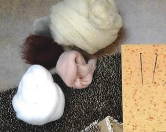 "NO INSTRUCTIONS Naked Wool Set the hedgehog ""lump"""