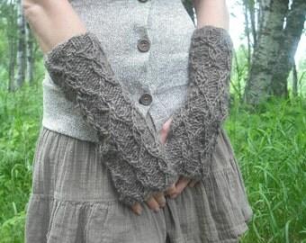 Fingerless Gloves, Knit Fingerless Gloves, Wool Arm Warmers, Wrist Warmers, Brown Fingerless Gloves, Knitted Gloves, Hand Knit Gloves