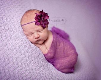 girls purple headband..baby girls purple headband..newborn purple headband..purple headband..girls headband..newborn headbands.baby headband