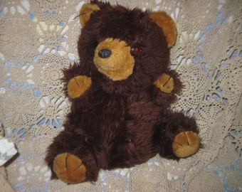 Kamar Brown Fluffy Teddy Bear, Vintage Teddy Bear, Teddy Bear, Plushie Teddy Bear, Vintage Stuffed Toys, Vintage Stuffed Animals  :)s