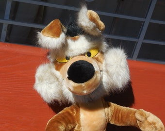 Willie-Coyote-Warner-Bros-Stuffed Animal Special Effects 1983, Cartoons, Stuffed Animal, Vintage Stuffed Animals, Vintage Toys, Toys,  :)S