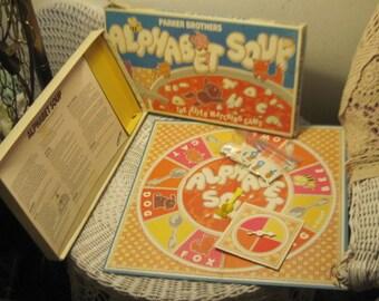 Alphabet Soup Preschooler Board Game 1981, Preschooler board Game, Learning Board Game, Home Schooling, Vintage Board Game, Board Game /:)s*