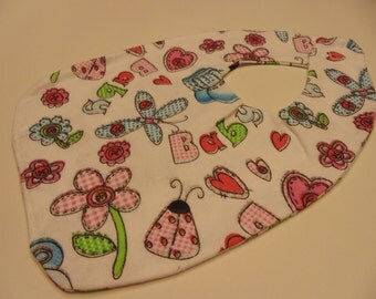flowers and more baby bib (BR)