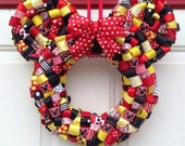 Minnie Mouse red/black/yellow Ribbon Wreath