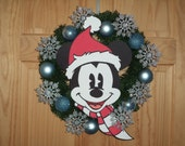 Classic Mickey Mouse Christmas / Winter Snowflake Wreath