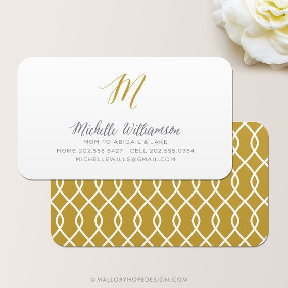 Ribbon business card calling card mommy card contact for Mommy business cards