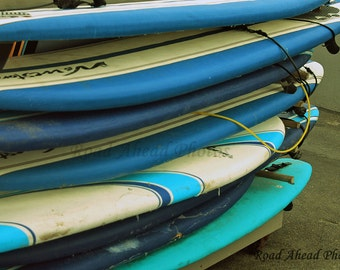 8 x 10 matted photograph, Surfboards, photography
