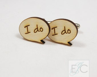 I do engraved wood (or acrylic) cuff links