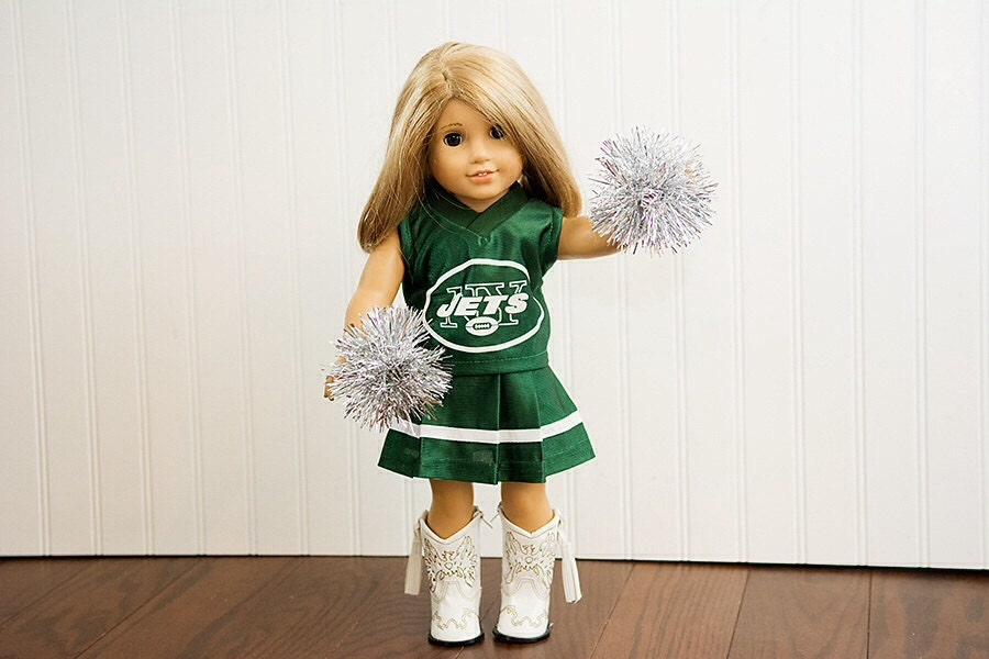 american girl doll nfl new york jets football cheerleader. Black Bedroom Furniture Sets. Home Design Ideas