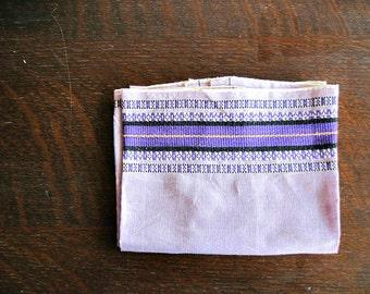 Vintage Cotton Tea Towel, Purple Kitchen Towel, Fingertip Towel, Guest Towel, Ethnic Towel, Bathroom Linens, Vintage Linens, Boho Hippie