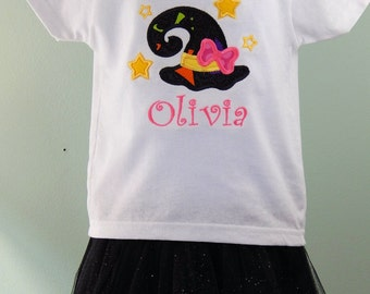 Toddler Girls Halloween Outfit and Bow - Personalized