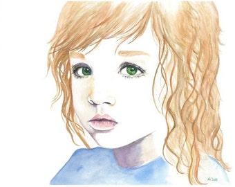 "Fine Art Giclee Watercolor Print ""Cassiopeia"""