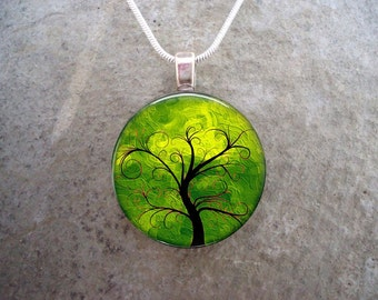 Tree Jewelry - Glass Pendant Necklace - Tree of Life Jewellery - Tree 11 - PRE-ORDER