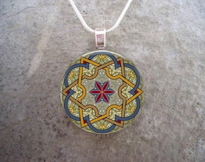 Celtic Jewelry - Glass Pendant Necklace - Celtic Decoration 34