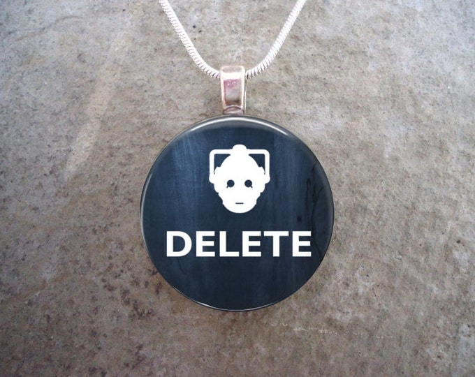 Doctor Who Necklace - DELETE - Glass Pendant Jewelry