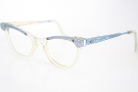 Small Cat Eye Eyeglasses Vintage Eyewear Retro Glasses Cat