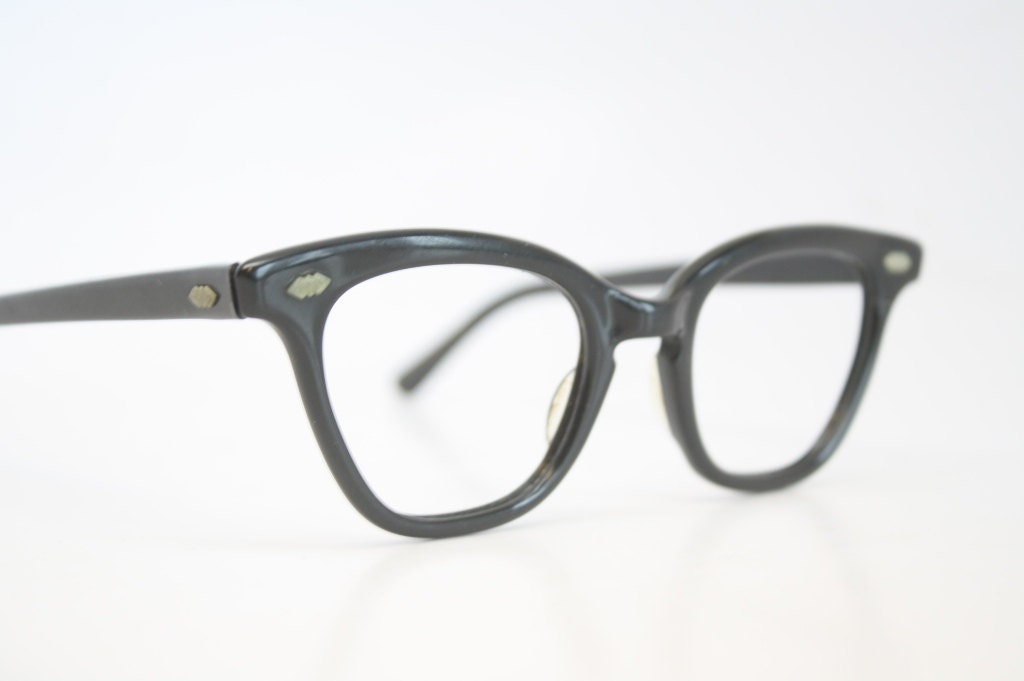 vintage black cat eye glasses vintage eyewear retro glasses
