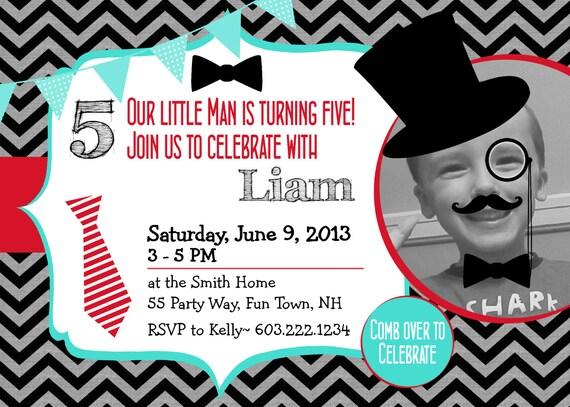 little man birthday invitation printable little man mustache th, Birthday invitations