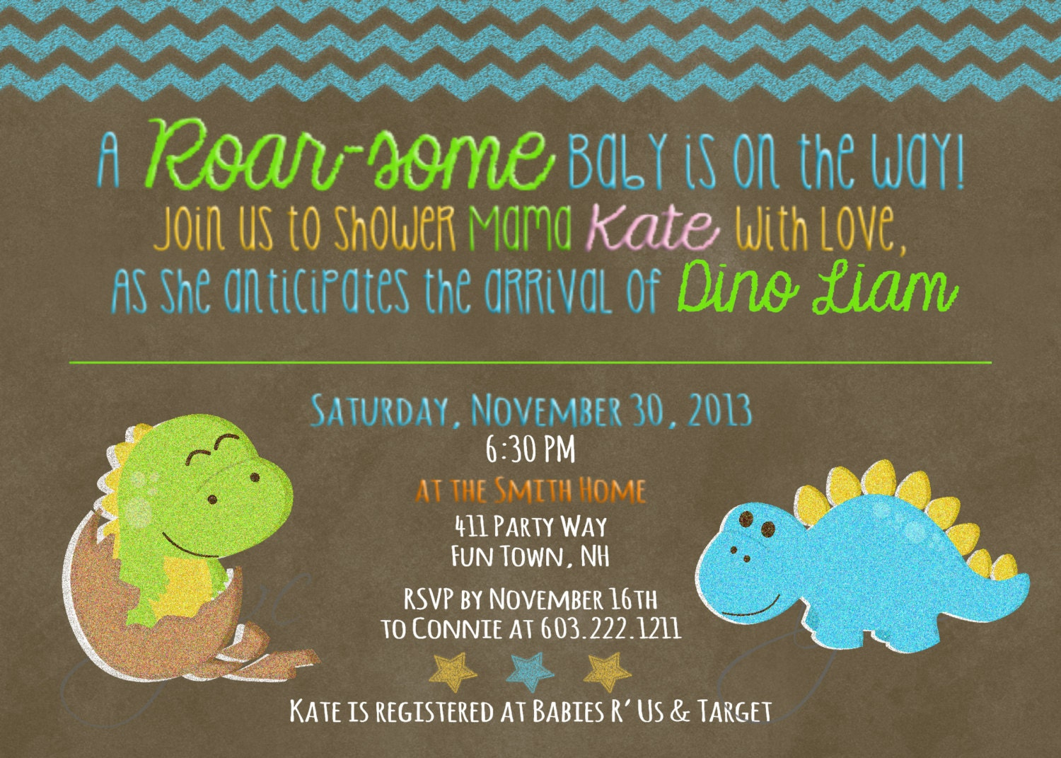 dinosaur baby shower invitation boy dinosaur baby shower