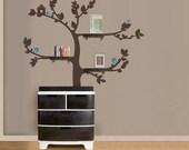 Shelf Tree Vinyl Wall Sticker. Tree decal only | 150 x 170cm / 59 x 67 inches
