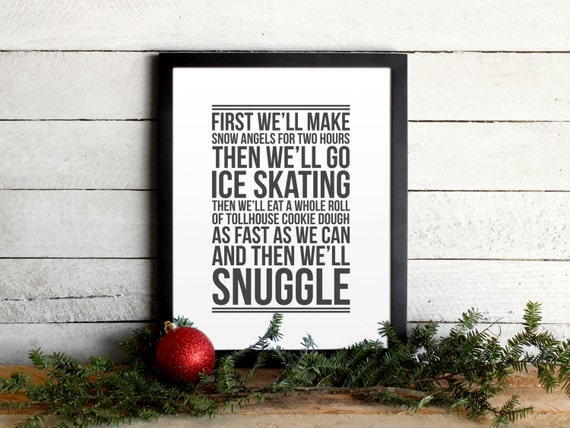 Free Christmas Printables With Favorite Movie Quotes: Elf Movie Quote Poster Christmas To-Do List Vintage Modern