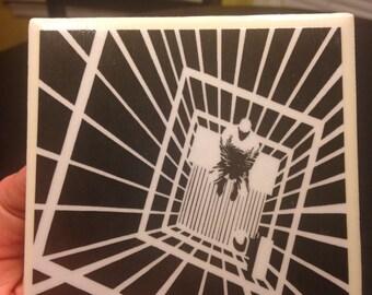 In A Cage .....Tile Coaster / Trivet