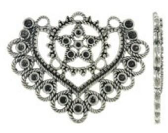 4PC antique silver finish chandelier components-8019