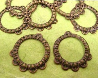 12pc antique bronze metal setting-1025