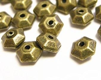 50pcs Antique Bronze  Metal Bead Spacer 5mm-4203