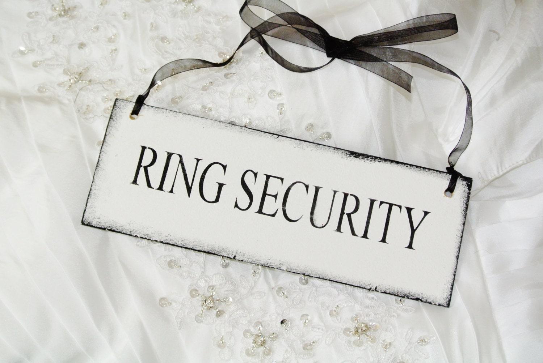 ring security ring bearer wedding sign ring bearer server