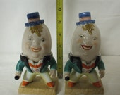 Humpty Dumpty Salt and Pepper Shakers Made In Occupied Japan