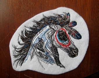 Wild Mystic Horse Patch Embroidered 6""