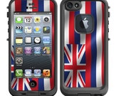 Skins FOR the Lifeproof iPhone 5 Original Case - Hawaii Flag Hawaiian - Free Shipping Lifeproof Case NOT included