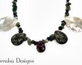 Dark Continent. OOAK Semi-precious stone necklace.