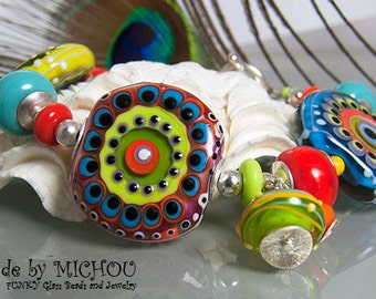 Confetti Girl - Art Glass Bracelet made by Michou Pascale Anderson