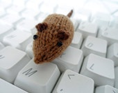 Wee Mites™ Quirky the Micro PC Mouse, Little Brown Mouse, Tiny Plush Mouse, Toy Mouse, Keyboard Mouse, Office Mouse
