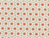 SALE - MOONLIT by Rashida Coleman Hale for Cotton + Steel - Hexies (orange, 1904-002) - 1 Yard - Quilting Weight Cotton Fabric