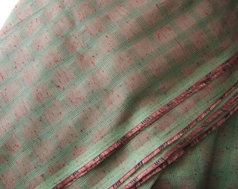 "Red and green silky sheen fabric 2.25 yards x 46"" wide"