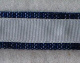 White on Navy Blue Keychain Wristlet