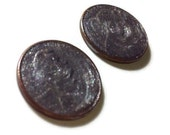 Silver sparkle penny post earrings good luck charm