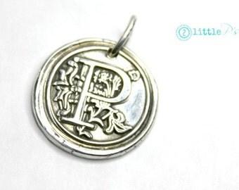 Initial Jewelry  Gift  Monogram Wax Seal Charm  Mom Jewelry Charm Only