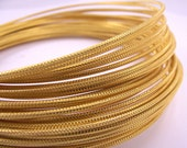 Textured Gold Anodized Aluminum Wire, Crosshatch Pattern, 12 gauge, 45 foot coil