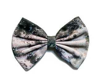 Moon Printed Hair Bow - Luna