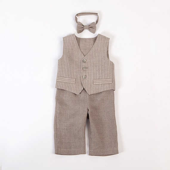 Baby junge ring bearer outfit junge taufe leinenanzug ersten - Taufe outfit junge ...