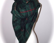 Hunter green blanket scarf/oversized scarf